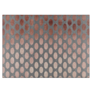 elegant stylish faux rose gold polka dots pattern cutting board