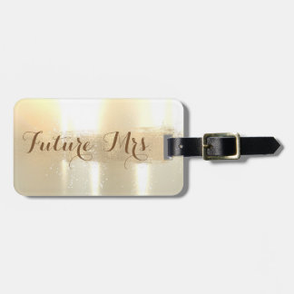 Elegant Stylish ,Future Mrs.,Foil Brush Stroke Luggage Tag