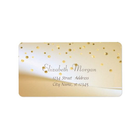 Elegant  Stylish ,Fux Gold Foil Confetti Label