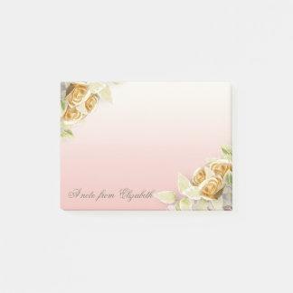 Elegant Stylish Girly ,Faux Gold Roses Post-it Notes