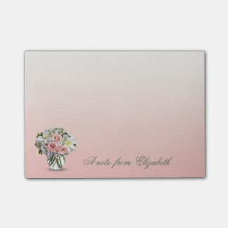 Elegant Stylish Girly ,   Flowers Post-it Notes