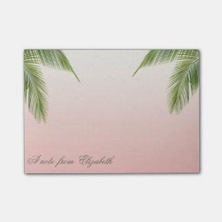 Elegant Stylish Girly ,  Palm Leaves Post-it Notes