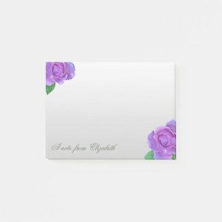 Elegant Stylish Girly ,Purple Rosees Post-it Notes