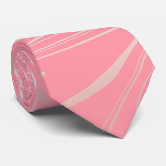 Elegant stylish girly rose gold marble look pink tie