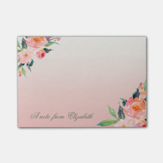 Elegant Stylish Girly , Watercolor  Flowers Post-it® Notes