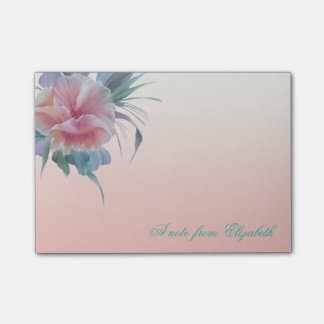 Elegant Stylish Girly , Watercolor  Flowers Post-it Notes