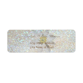 Elegant Stylish,Glittery Daisy,Label Return Address Label