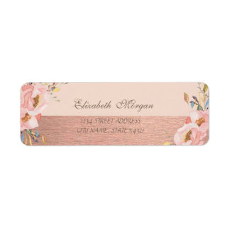 Elegant Stylish  Glittery ,Flowers  Address Label