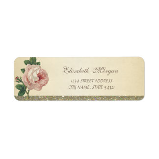 Elegant Stylish  Glittery ,Rose Address Label