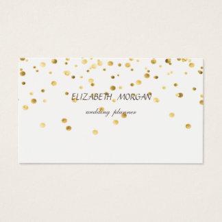 Elegant Stylish Minimalist, Faux Gold Confetti Business Card