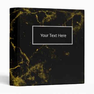 elegant stylish modern chic black and gold marble 3 ring binder