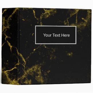 elegant stylish modern chic black and gold marble 3 ring binders