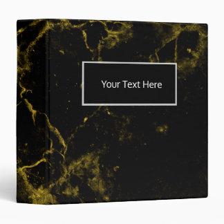 elegant stylish modern chic black and gold marble binder