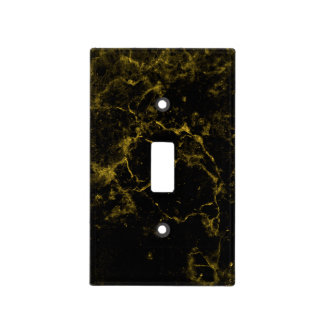 elegant stylish modern chic black and gold marble light switch cover