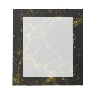elegant stylish modern chic black and gold marble notepad