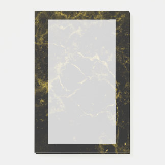 elegant stylish modern chic black and gold marble post-it® notes
