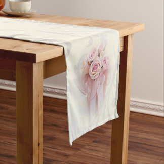 Elegant Stylish Modern,Roses Short Table Runner