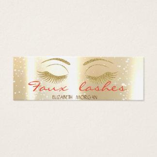 Elegant Stylish Modern Shinny,Gold  ,Faux Lashes Mini Business Card