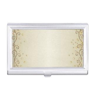 Elegant Stylish Proffesional- Gold- Business Card Holder