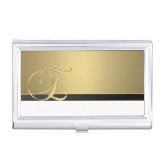 Elegant Stylish Proffesional- Gold-Monogram Business Card Holder