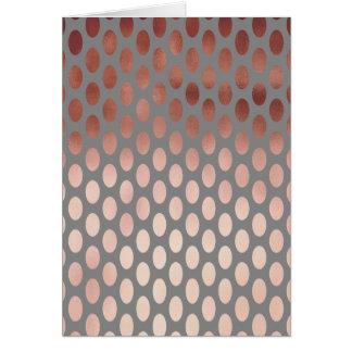 elegant stylish rose gold foil polka dots pattern card