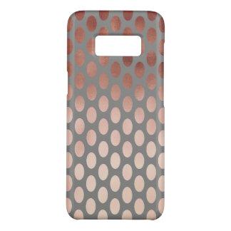 elegant stylish rose gold foil polka dots pattern Case-Mate samsung galaxy s8 case