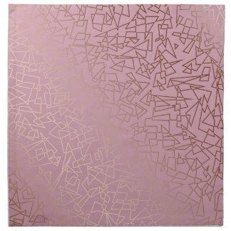 Elegant stylish rose gold geometric pattern pink napkin
