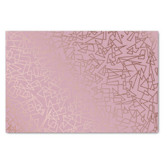 Elegant stylish rose gold geometric pattern pink tissue paper