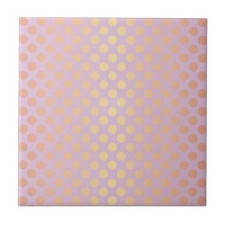 Elegant stylish rose gold polka dots pattern pink tile