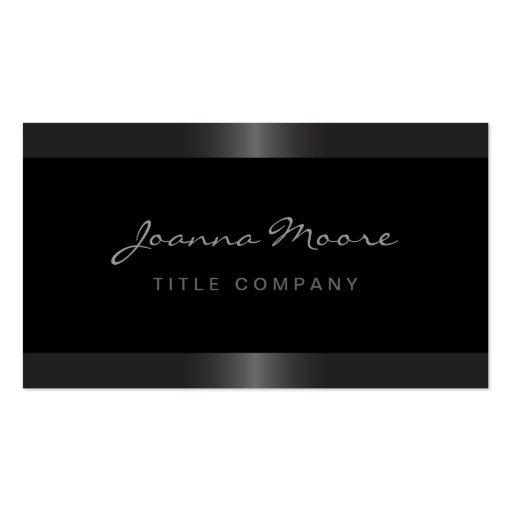 Elegant stylish satin gray border black business cards