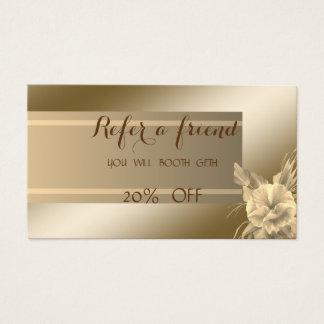 Elegant Stylish ,Shiny,Flower   Referral Card