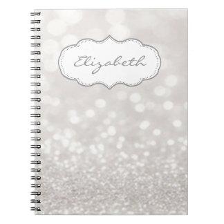 Elegant Stylish ,Shiny , Glittery Bokeh Spiral Notebook