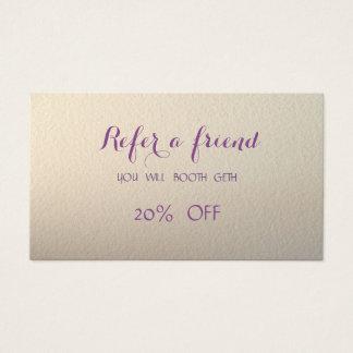 Elegant Stylish ,Shiny  Referral Card