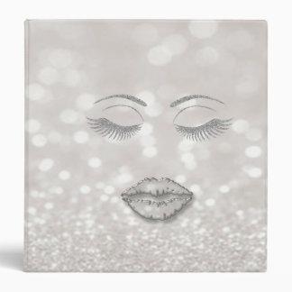 Elegant Stylish,Silver  Glittery Lashes,Bokeh,Lips Binder