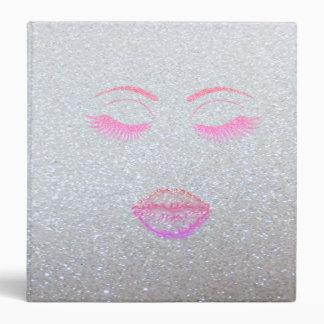 Elegant Stylish,Silver ,Glittery Lashes,Lips Binders