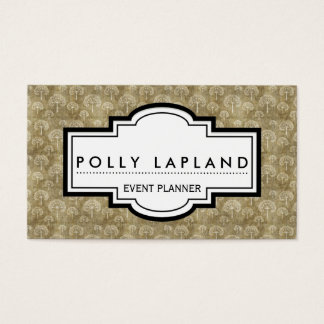Elegant stylish vintage business card