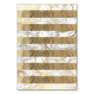 Elegant stylish white faux gold marble stripes card