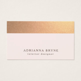 Elegant Subtle Gold Glitter Light Pink Business Card