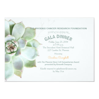 Elegant Succulent Gala Dinner Invitation