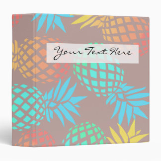 elegant summer tropical colorful pineapple pattern 3 ring binder