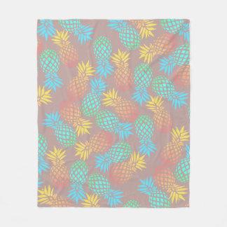 elegant summer tropical colorful pineapple pattern fleece blanket