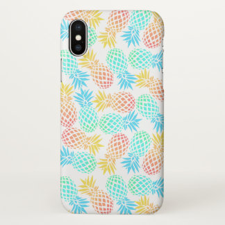 elegant summer tropical colorful pineapple pattern iPhone x case