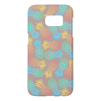 elegant summer tropical colorful pineapple pattern samsung galaxy s7 case