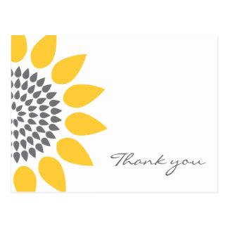 Elegant Sunflower Thank You Post Cards