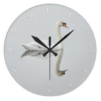 Elegant Swan Small Numbers Large Clock