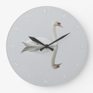 Elegant Swan Small Numbers Wall Clock