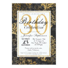 Elegant Swanky Faux Gold, Black, & Grey Floral Card