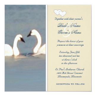 Elegant Swans Wedding Invitation