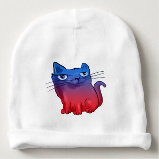 elegant sweet kitty cartoon baby beanie