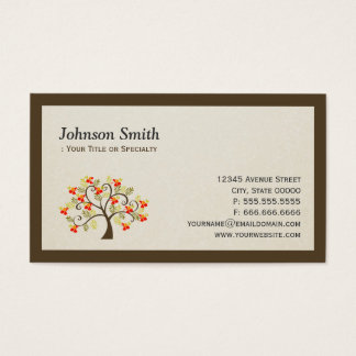 Elegant Swirl Whimsical Tree - Modern Professional Business Card